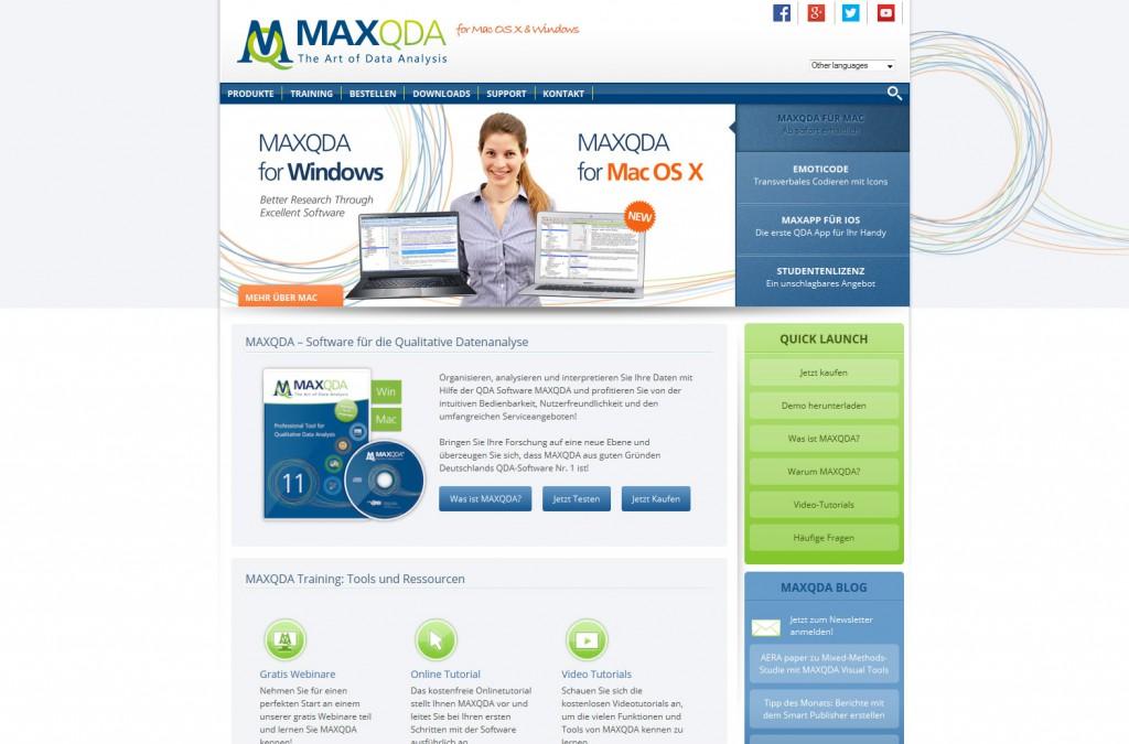 Startseite maxqda.de