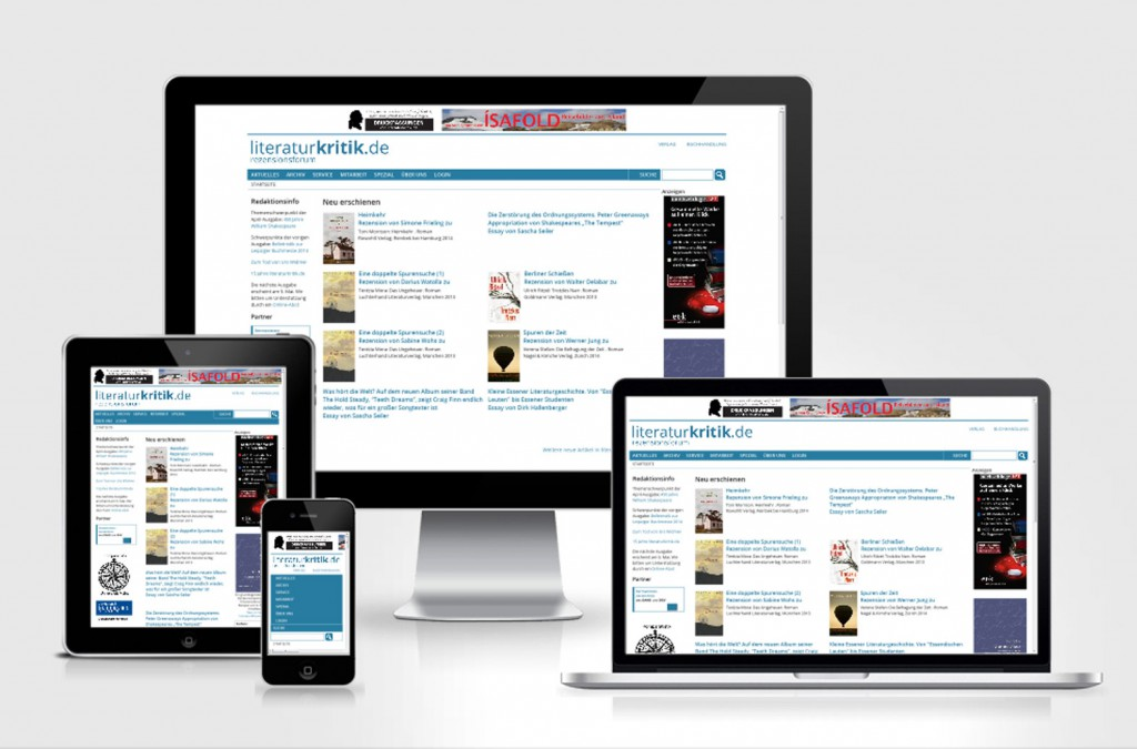 literaturkritik.de - Responsive Design