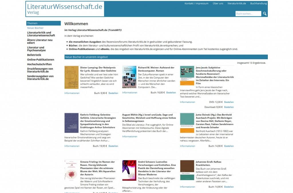 Startseite literaturwissenschaft.de